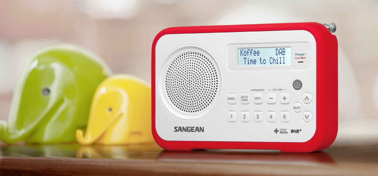 Sangean DPR-67 To experience digital radio anywhere, anytime, just add colour!