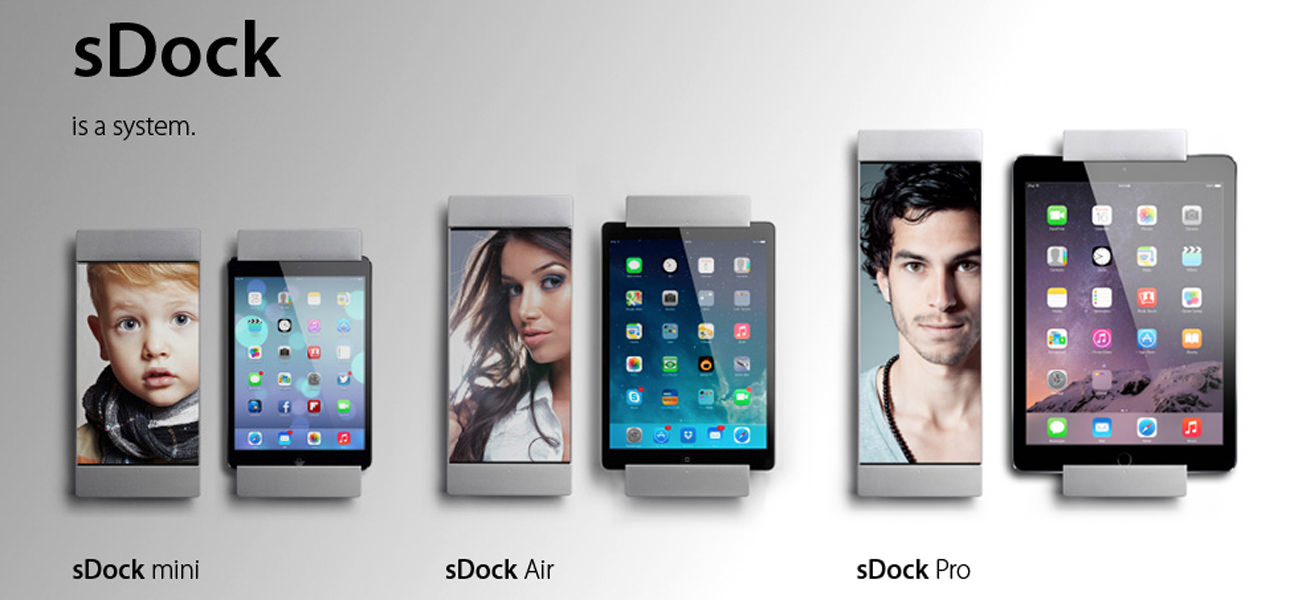 smart:)things sDock Wall Mounts for iPads and iPhones